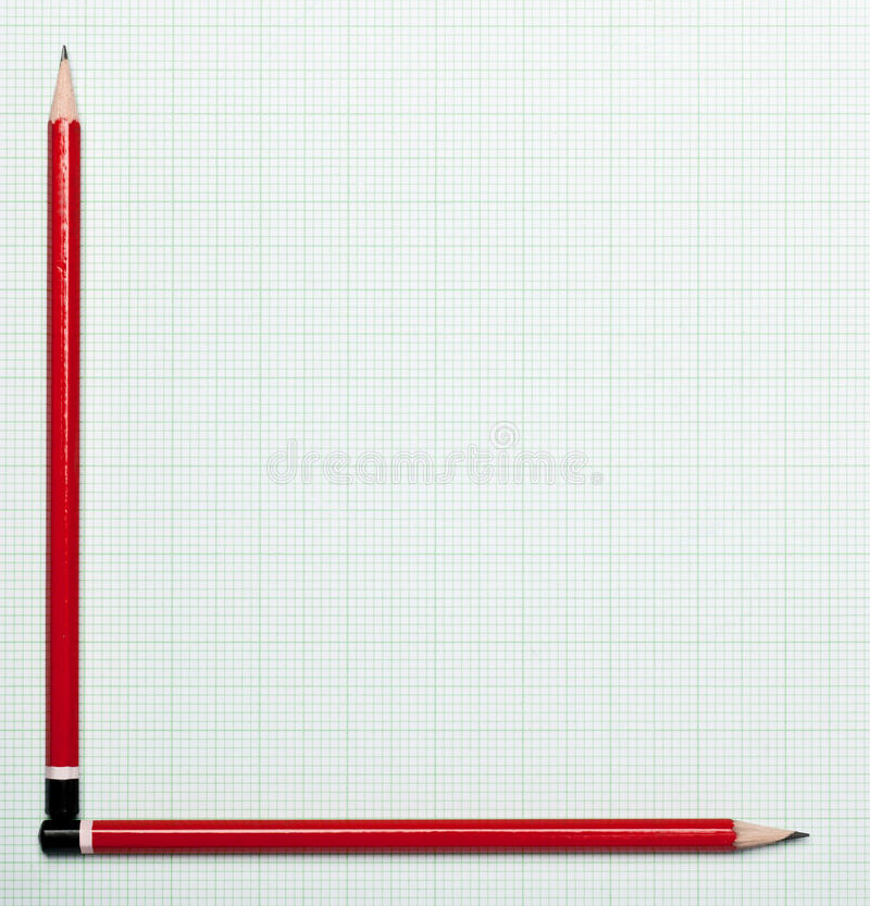 Graph Paper With Pencil Axis Royalty Free Stock Photography