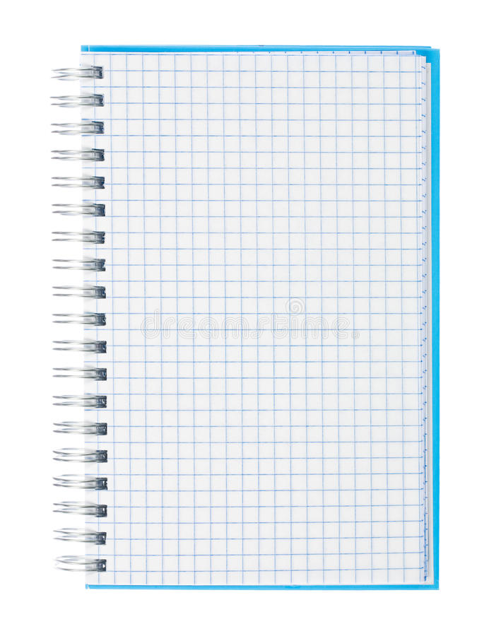 graph paper spiral notebook royalty free stock photo