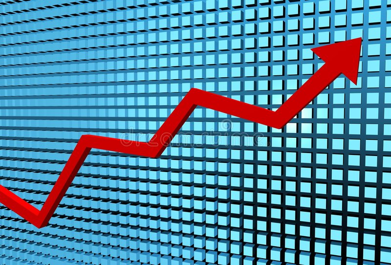 Graph rising vector illustration