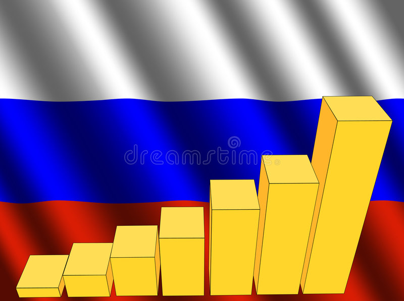 Download Graph with Russian flag stock illustration. Illustration of abstract - 6540328
