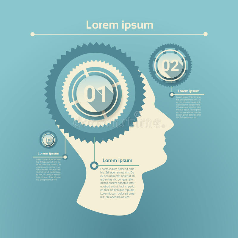 Graph Set Human Infographic Icon Business Network Chart. Flat Vector Illustration royalty free illustration