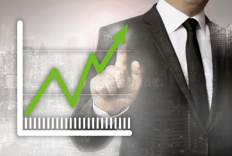 Graph is shown by businessman concept royalty free stock photography
