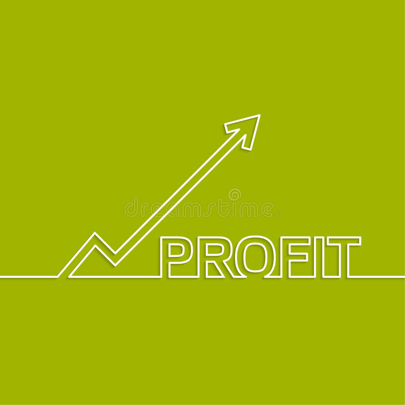 The graph shows the growth and profit. vector illustration