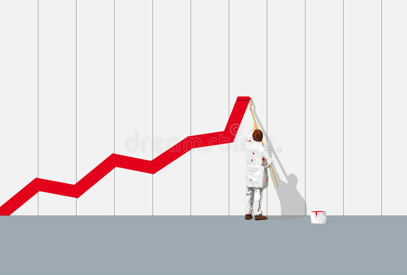 Graph of success stock illustration