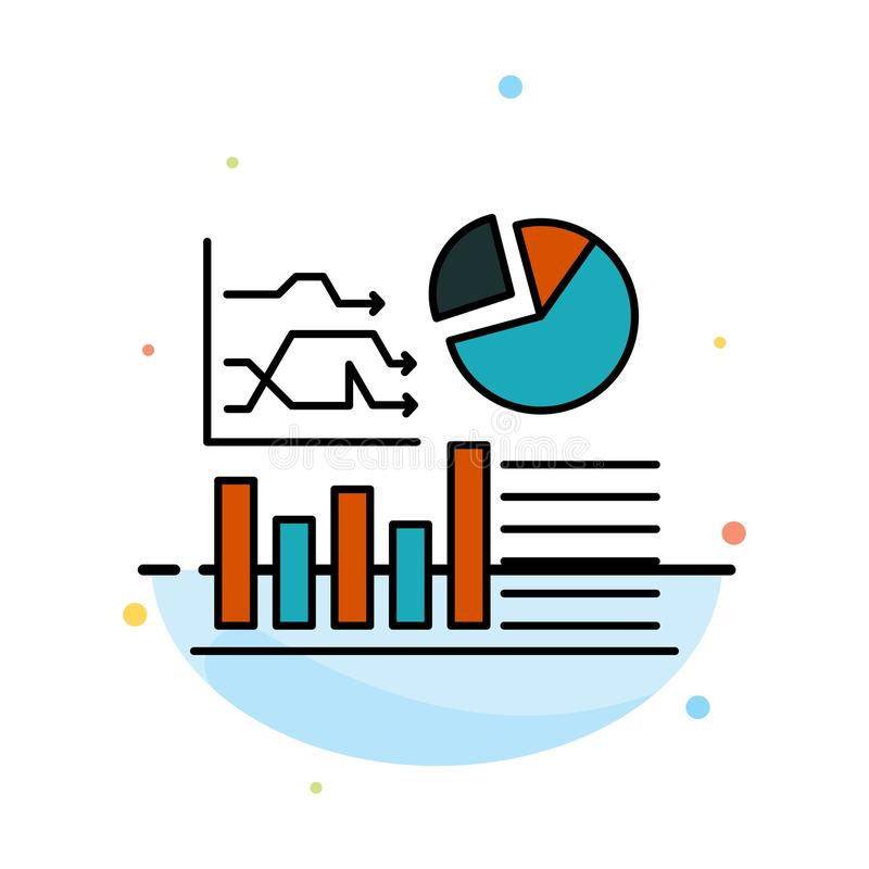 Graph, Success, Flowchart, Business Abstract Flat Color Icon Template stock illustration
