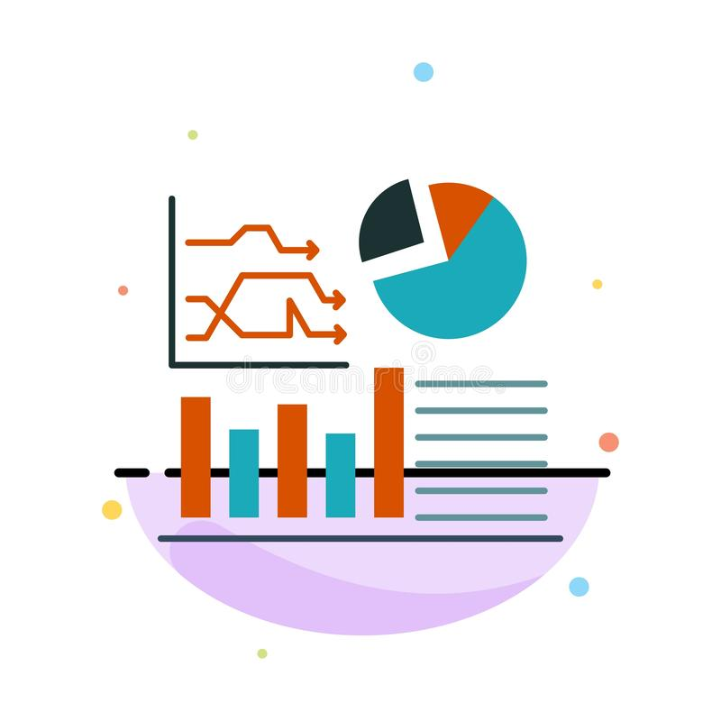 Graph, Success, Flowchart, Business Abstract Flat Color Icon Template royalty free illustration