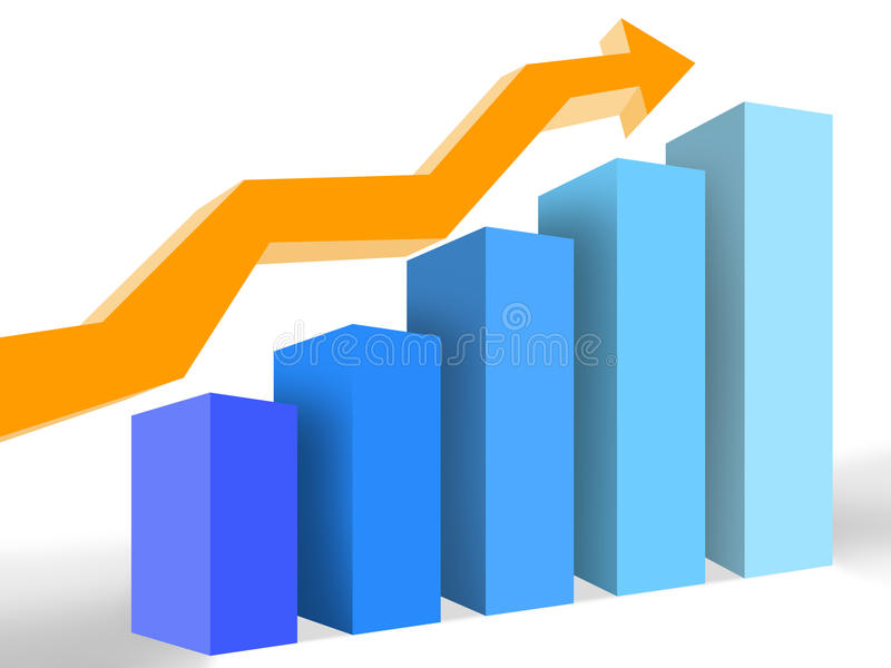 Graph of success royalty free stock images