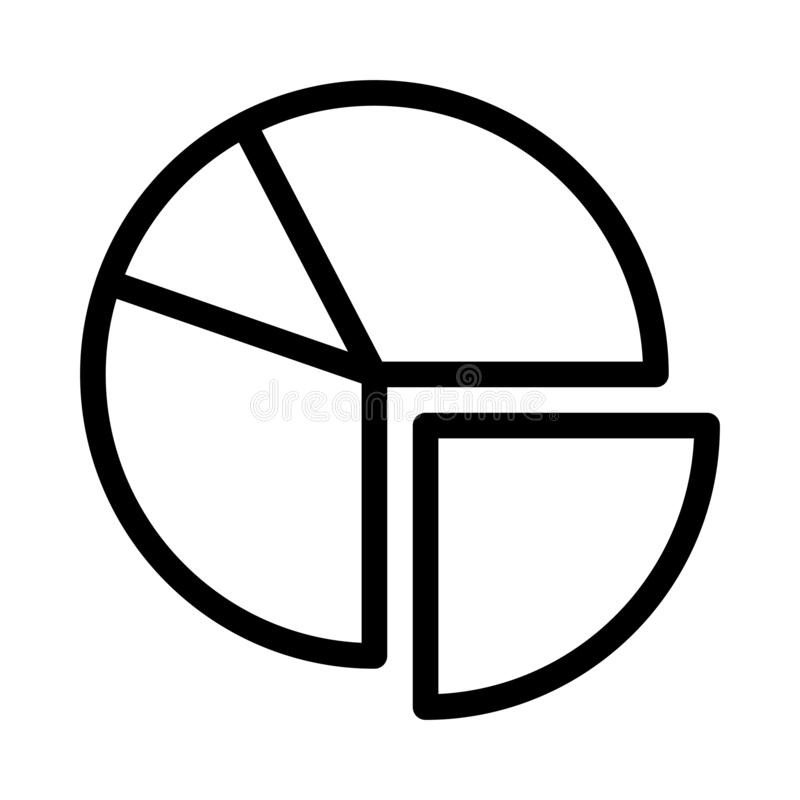 Graph thin line vector icon vector illustration