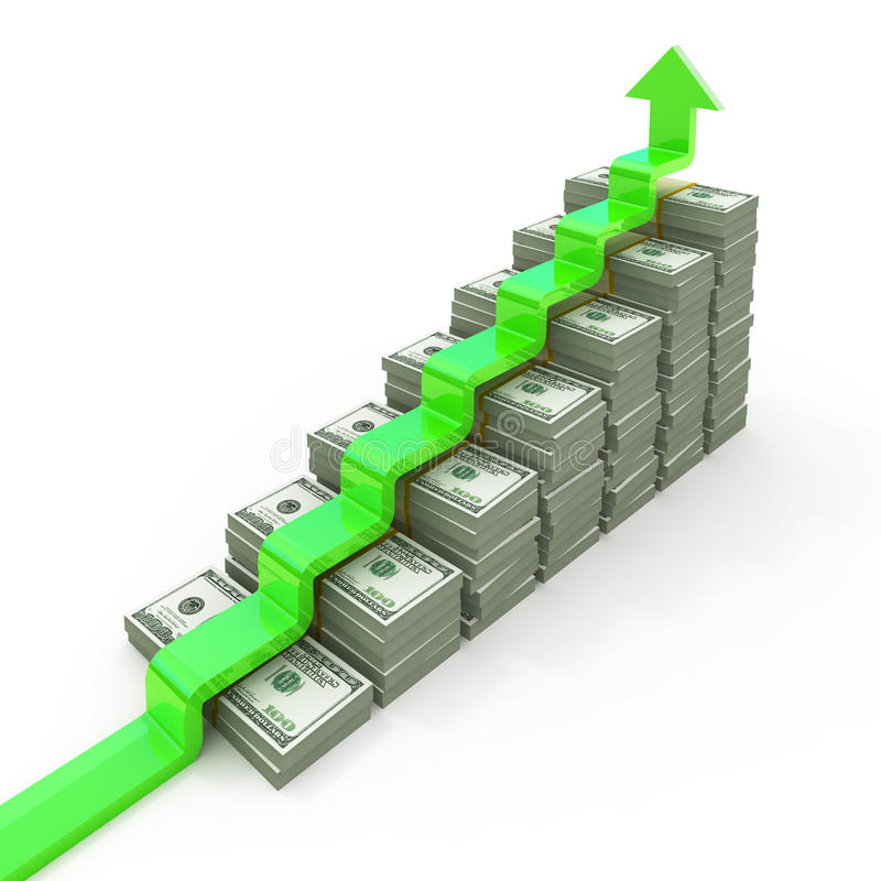 Download Graph from USD stacks stock illustration. Image of exchange - 15923589