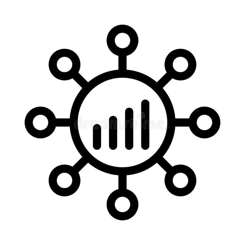 Free Graph Vector. Thin Line Icon Stock Image - 163389231