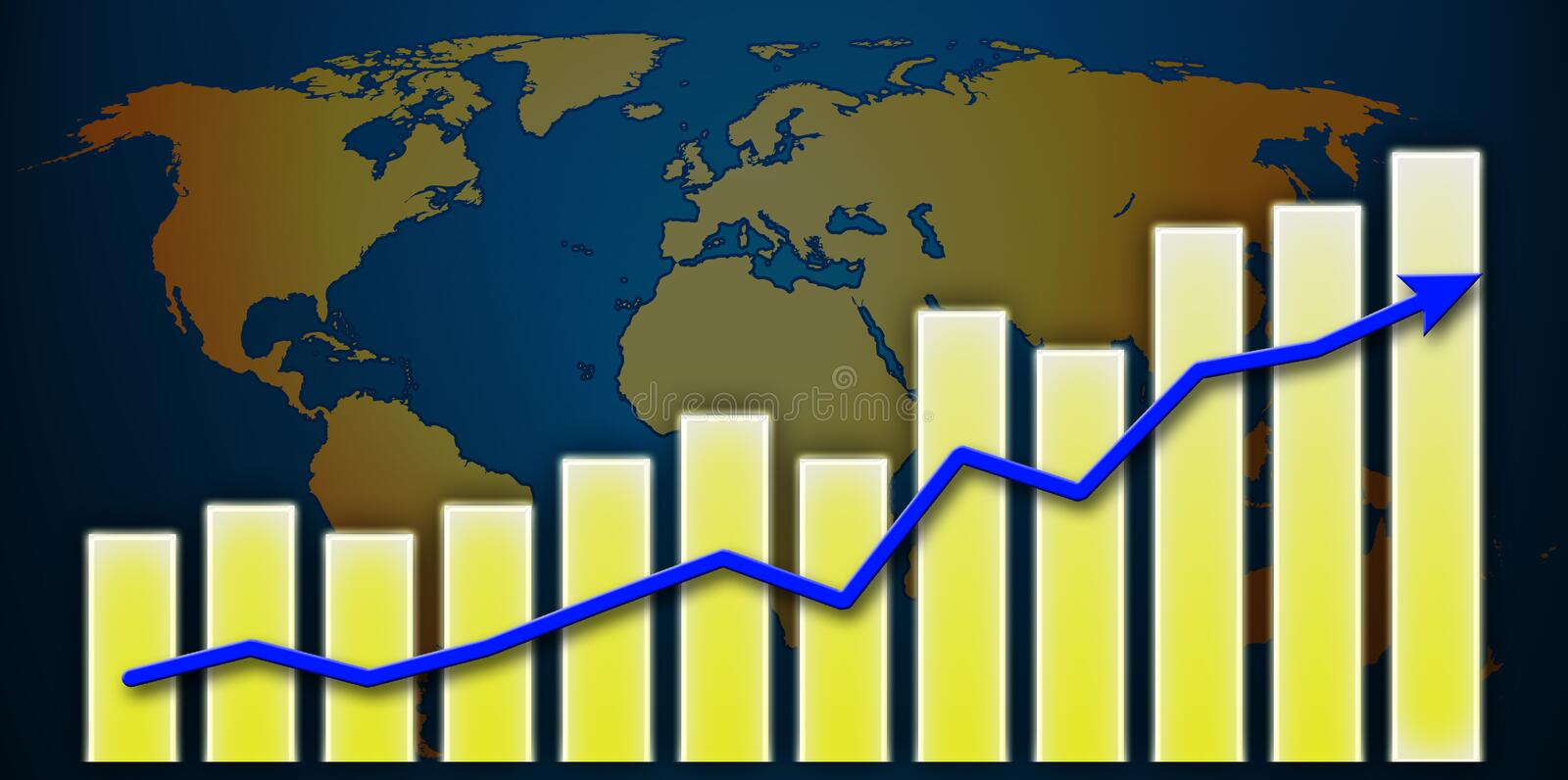 Download Graph World Royalty Free Stock Image - Image: 12995696