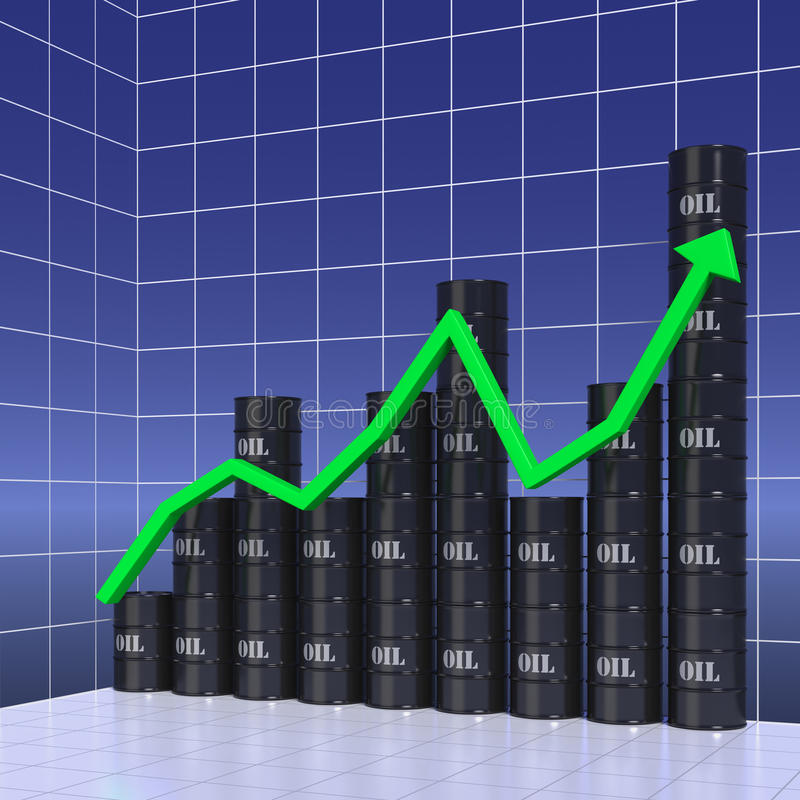 Download Graph of world oil trade stock illustration. Image of looking - 26514486