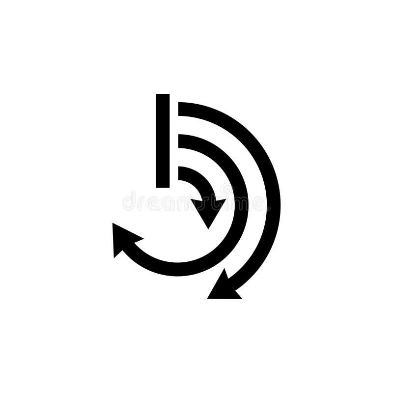 Graphe de cycle, icône plate de vecteur de diagramme géométrique de graphique de présentation illustration libre de droits
