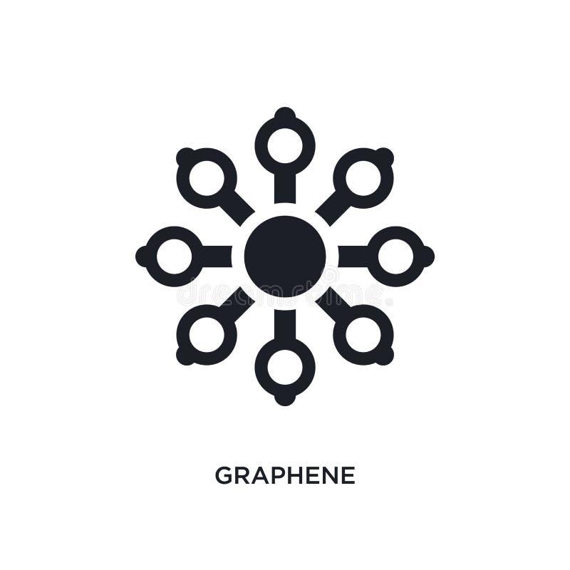 graphene απομονωμένο εικονίδιο απλή απεικόνιση στοιχείων από τα τεχνητά εικονίδια έννοιας intellegence graphene editable σύμβολο  ελεύθερη απεικόνιση δικαιώματος