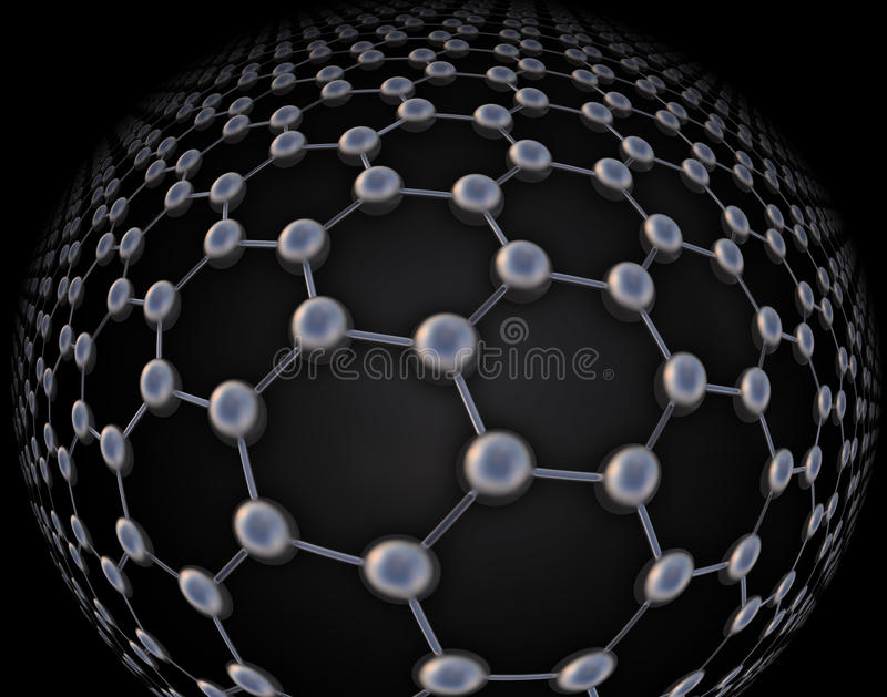 Graphene atoomstructuur vector illustratie