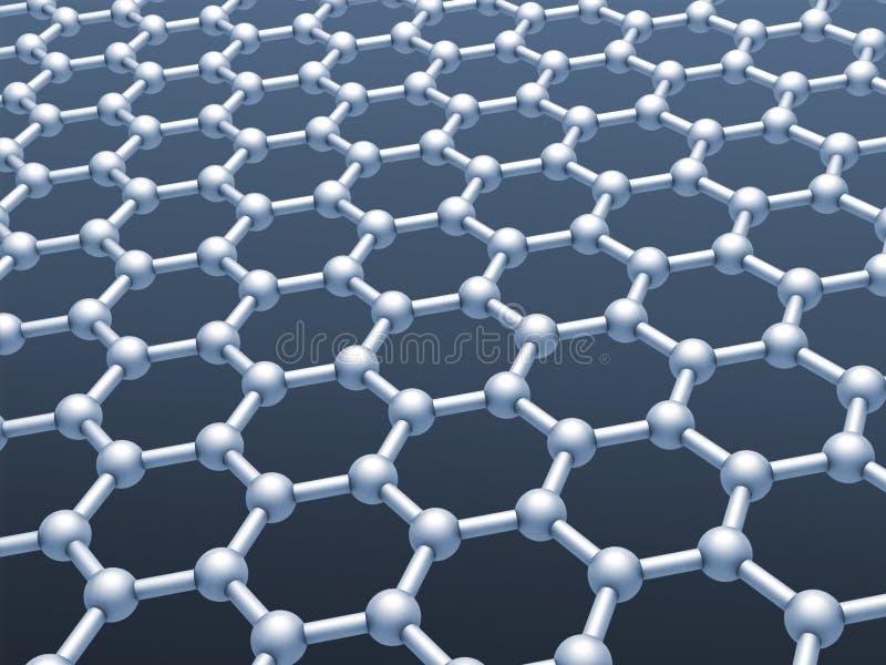 graphene layer structure model stock illustration