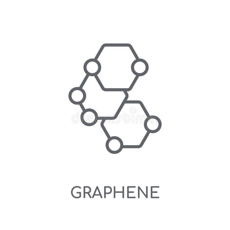 Graphene linjär symbol Modernt begrepp för översiktsGraphene logo på wh vektor illustrationer