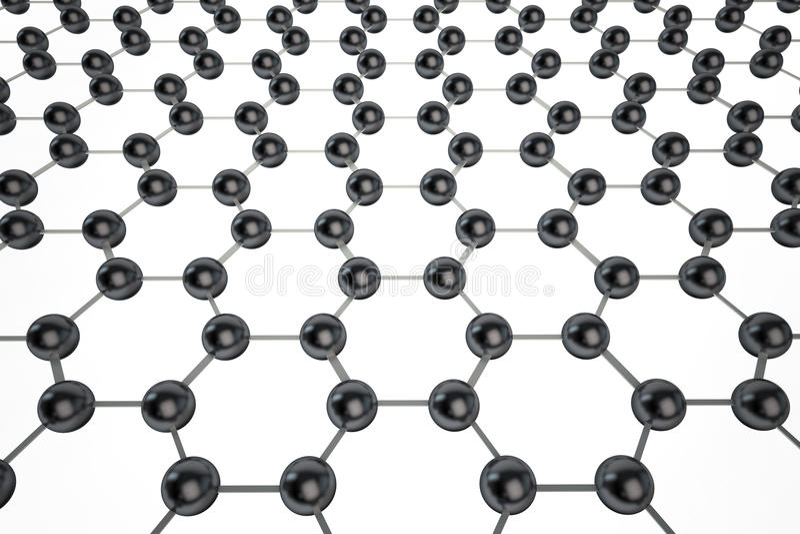 Graphene moleculair netwerk royalty-vrije illustratie