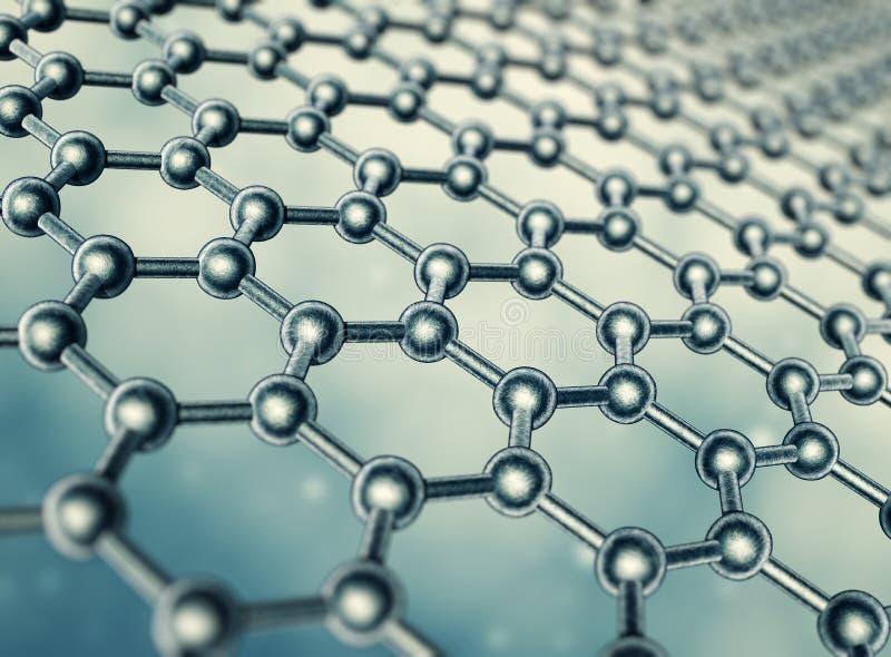 Graphene moleculaire structuur stock illustratie
