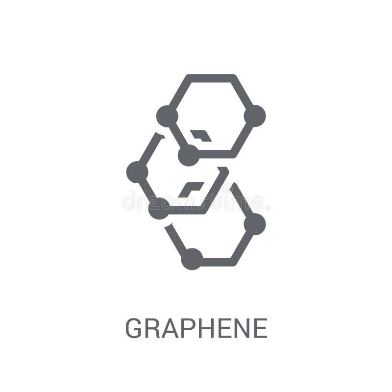 Graphene symbol  royaltyfri illustrationer