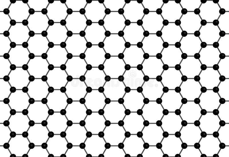 Graphene tekstura royalty ilustracja