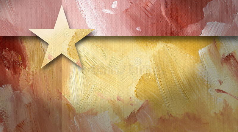 Graphic abstract background geometric star yellow royalty free illustration