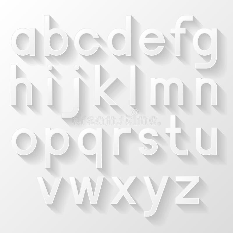Graphic alphabet set. Vector illustration royalty free illustration