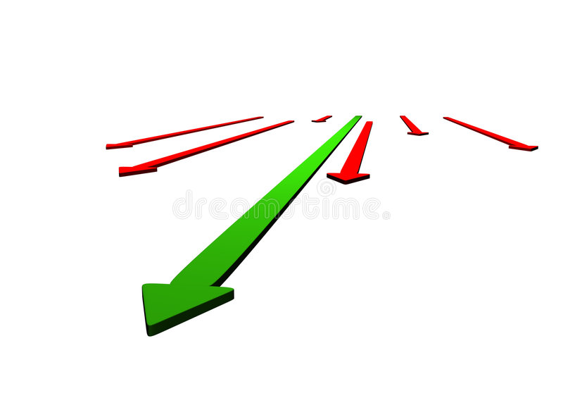Download Graphic arrows on white stock illustration. Illustration of progress - 2732910