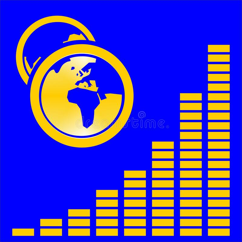 Download Graphic On Blue With Globes Stock Illustration - Image: 2133322