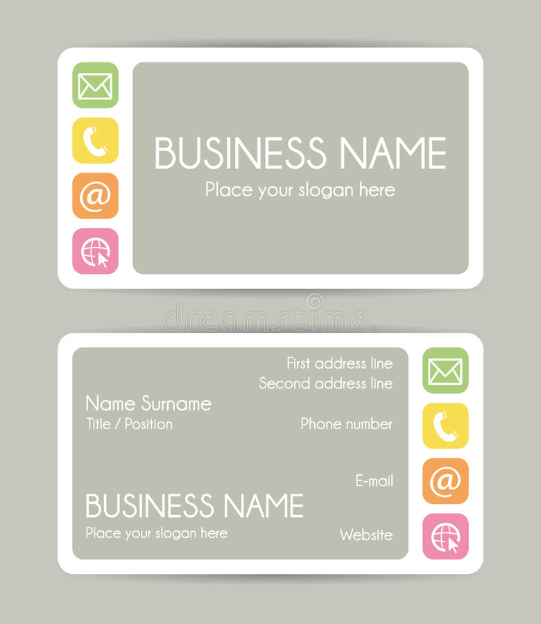 Graphic Business Card Design. Front And Back. Stock Vector ...