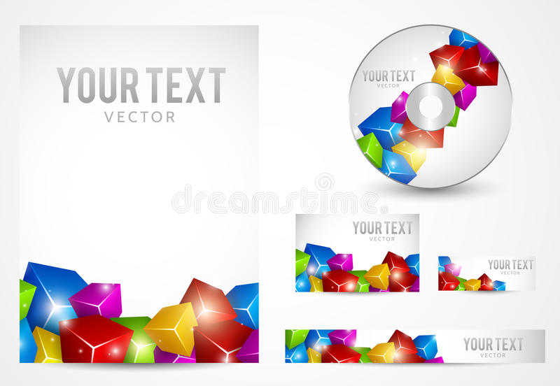 Graphic Business Layout. With place for logo and text royalty free illustration
