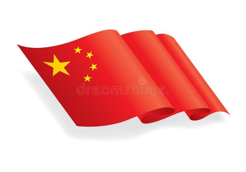 Graphic china flag. On white background, EPS 10 royalty free illustration
