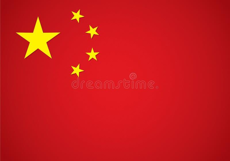 Graphic china flag. Red background, EPS 10 stock illustration