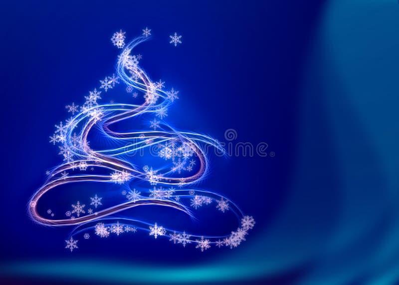 Graphic christmas tree vector illustration