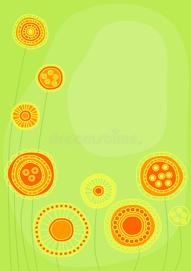 Download Graphic citrine flowers stock illustration. Image of beautiful - 23633255