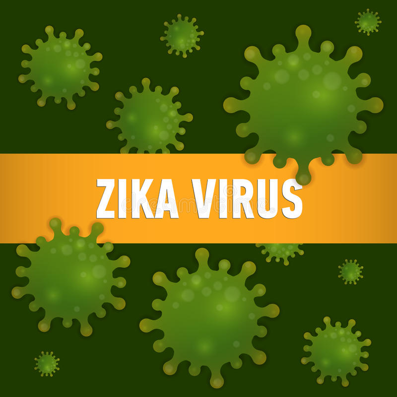 Graphic concept outbreak of new virus Zika. Graphic concept outbreak of new virus Zika stock illustration