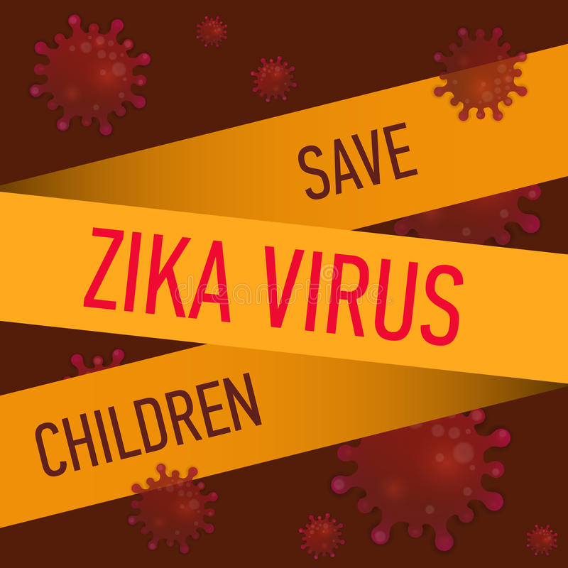 Graphic concept outbreak of new virus Zika. Graphic concept outbreak of new virus Zika royalty free illustration