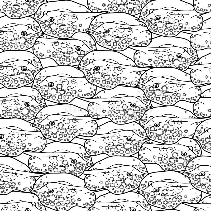 Graphic cramp fish pattern stock illustration