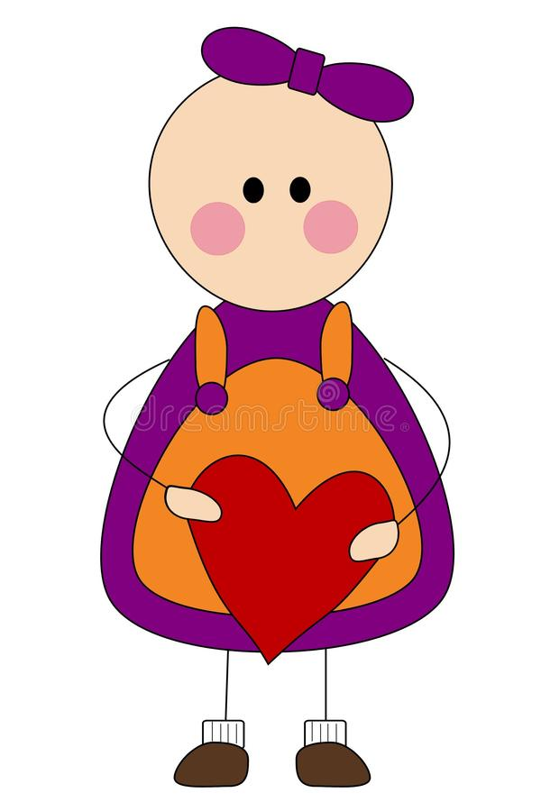 Download Graphic Of Cute Little Girl Stock Illustration - Image: 11975867