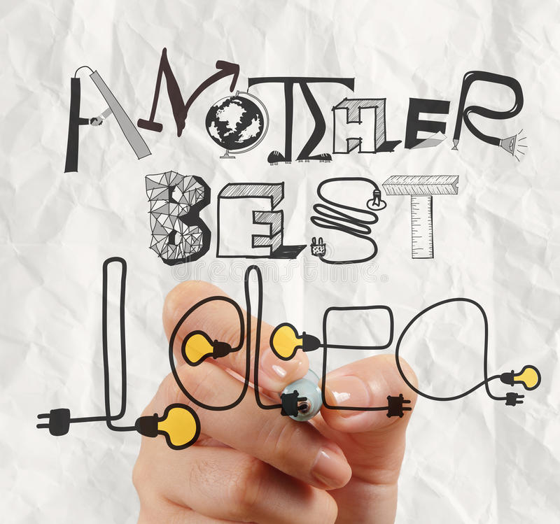 Graphic design ANOTHER BEST IDEA word royalty free stock images
