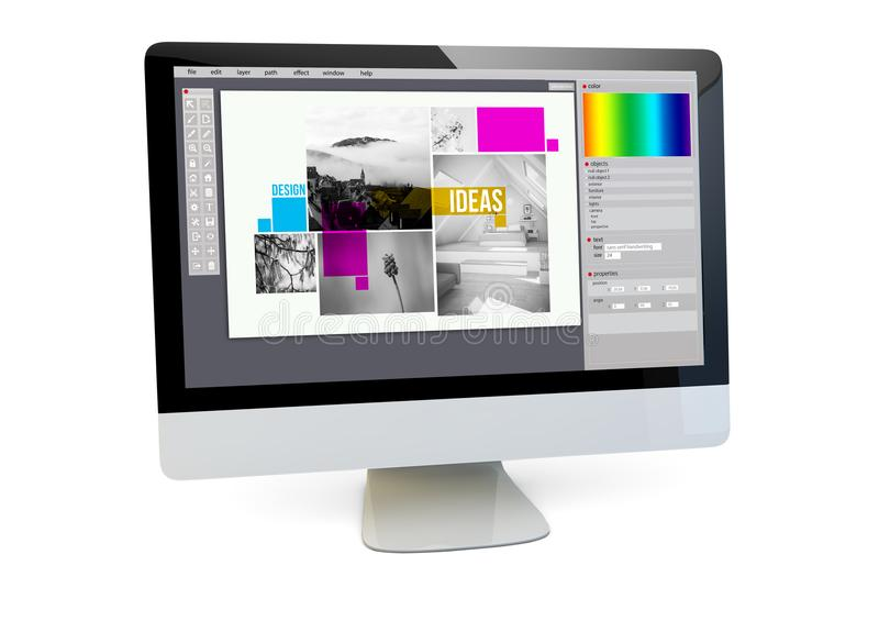 graphic design computer royalty free stock photography