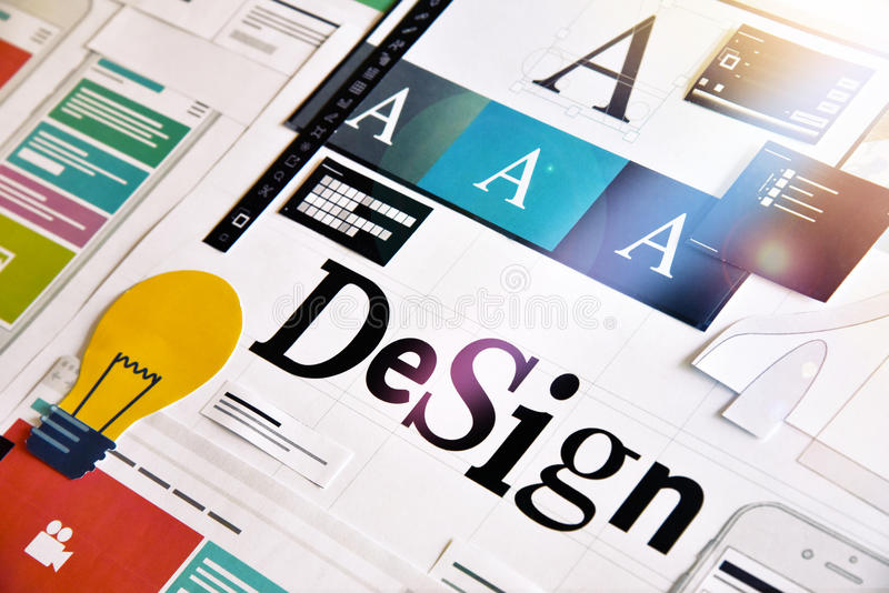 Graphic design. Concept for different categories of design, graphic and web design, logo, stationary and product design, company identity, branding, marketing