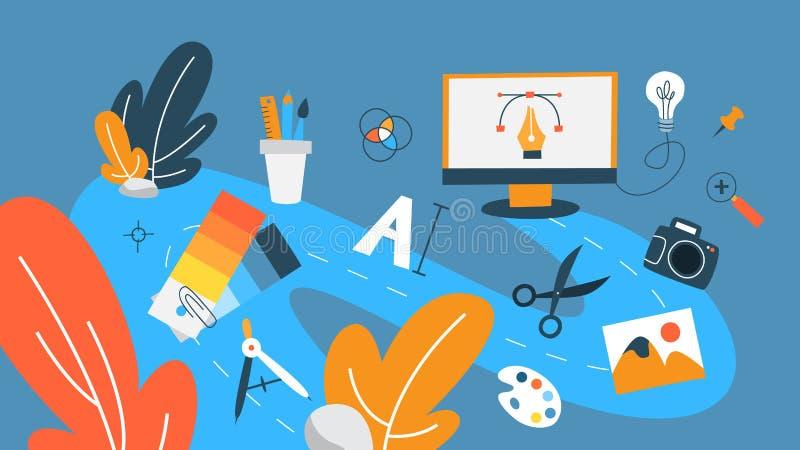 Graphic design concept stock illustration