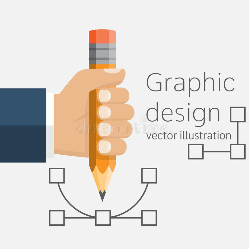 Graphic design, concept. royalty free illustration