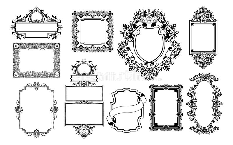 Graphic Design Decorative Frames Royalty Free Stock Photo