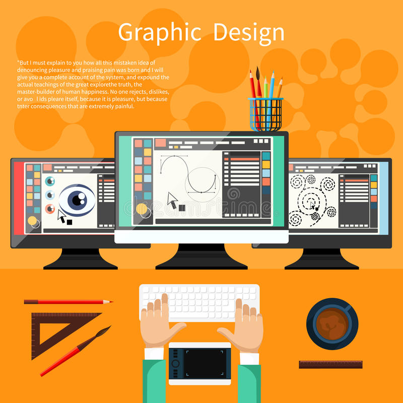Graphic design and designer tools concept stock vector for Wohnung designer software