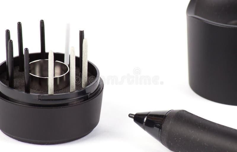 Graphic Design Digitized Pen. With Cradle stock photos