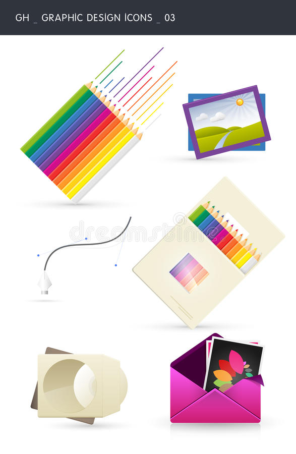 Download Graphic design icons _03 stock vector. Illustration of coloring - 16404029