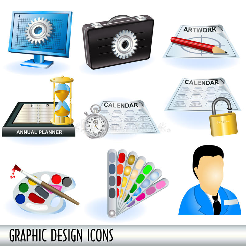 Graphic Design Icons Stock Photography