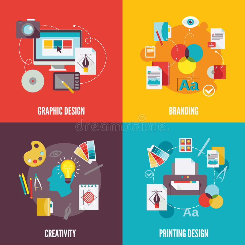 Free Graphic Design Icons Flat Stock Images - 45865304